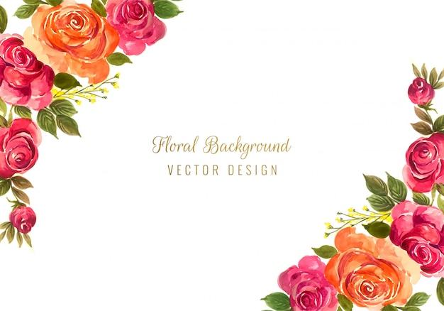 Fondo floreale della struttura di belle nozze decorative variopinte Vettore gratuito