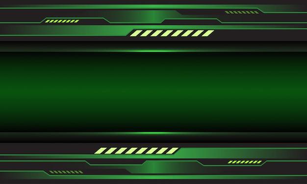 Fondo futuristico cyber astratto di tecnologia dello spazio in bianco del circuito metallico verde. Vettore Premium