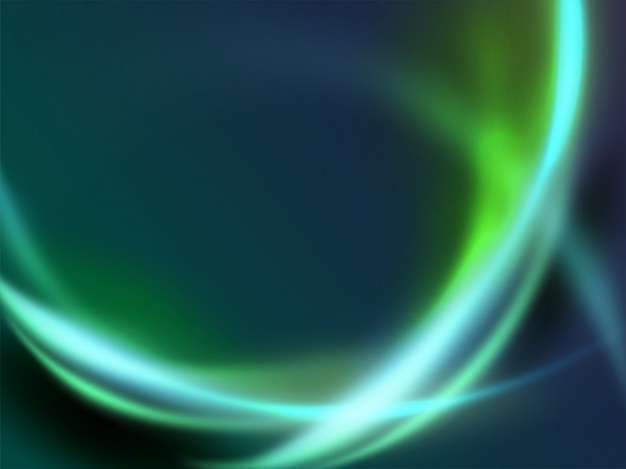 Fondo futuristico moderno della curva di energia della luce dell'onda dinamica verde astratta Vettore Premium