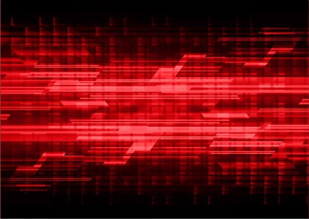 Fondo futuro di concetto di tecnologia del circuito cyber rosso Vettore Premium
