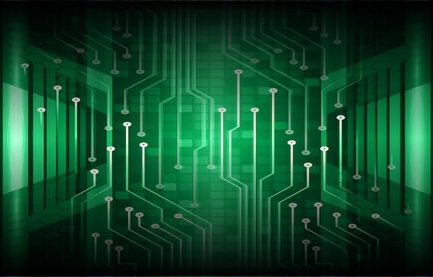 Fondo futuro di concetto di tecnologia del circuito cyber verde Vettore Premium