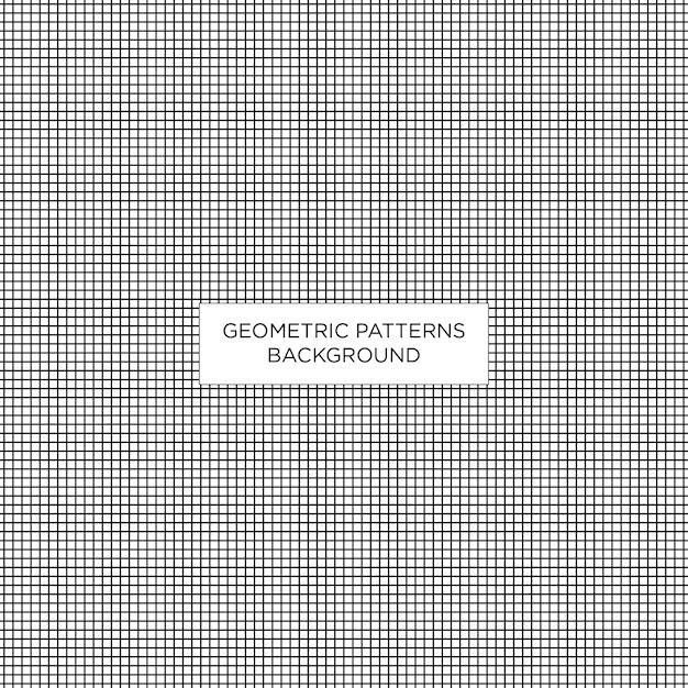 Fondo geometrico del modello quadrato Vettore Premium