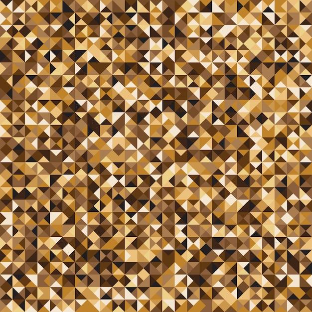 Fondo giallo del modello del controllo del mosaico di pixelated Vettore Premium
