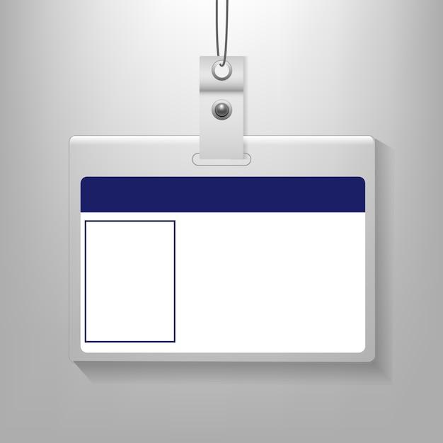 Fondo grigio isolato della carta di identità Vettore Premium