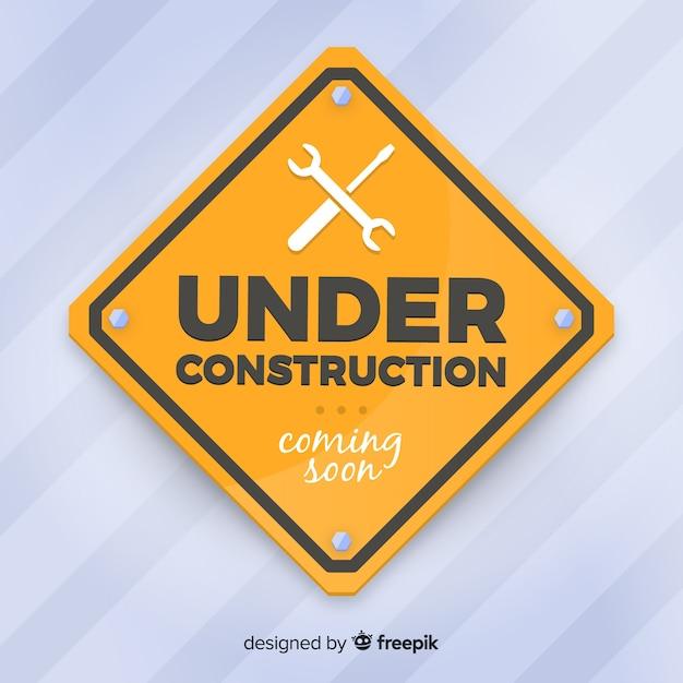 Fondo in costruzione realistico del segno Vettore gratuito