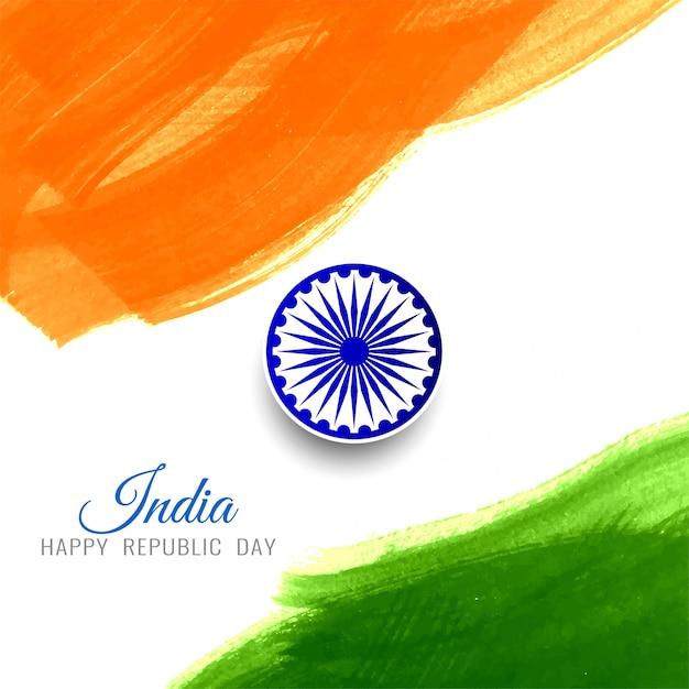 Fondo indiano astratto della bandiera di giorno felice della repubblica Vettore Premium