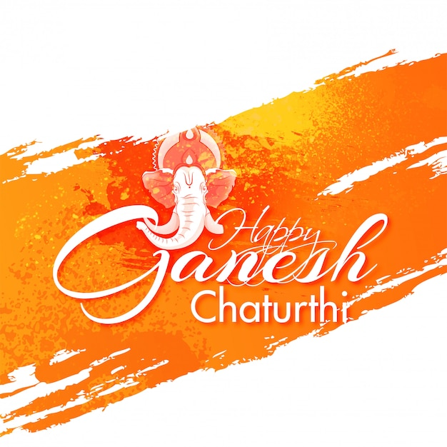 Fondo indiano di ganesh chaturthi di festival. Vettore Premium
