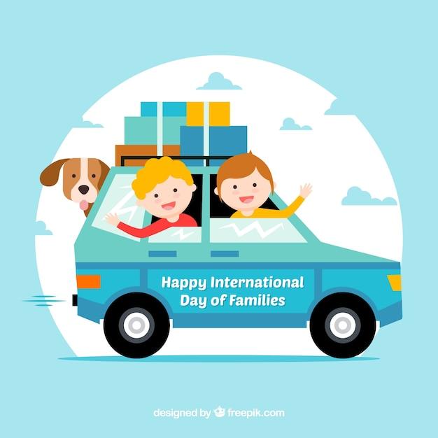 Fondo internazionale della giornata familiare Vettore gratuito