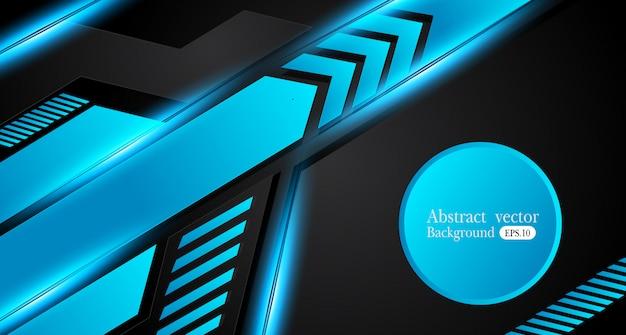 Fondo metallico astratto della disposizione di concetto dell'innovazione di progettazione della struttura del nero blu Vettore Premium