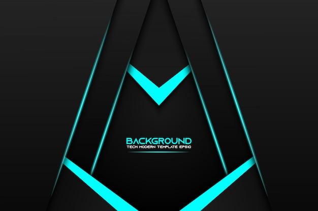 Fondo moderno del modello di progettazione di tecnologia della disposizione nera metallica blu astratta del blocco per grafici Vettore Premium