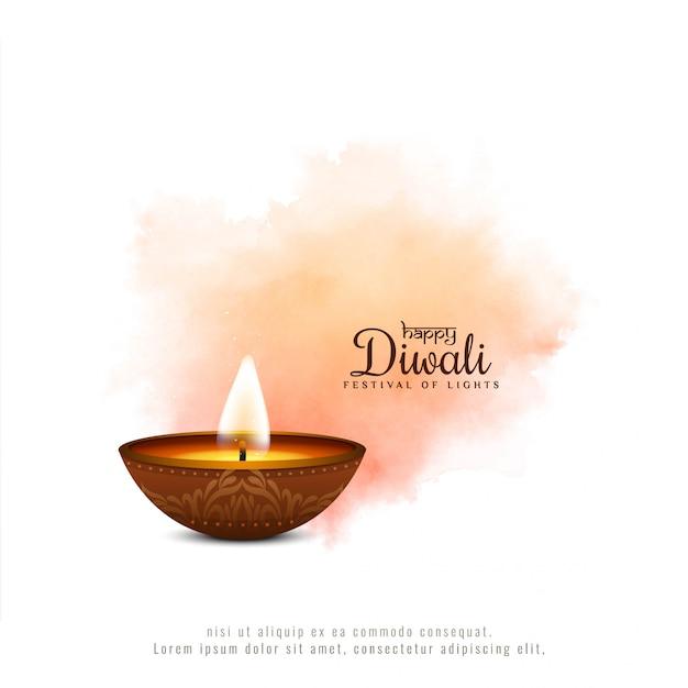 Fondo molle di colore di festival felice astratto di diwali Vettore gratuito