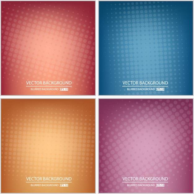Fondo multicolore minimo astratto o insieme della copertura. Vettore Premium