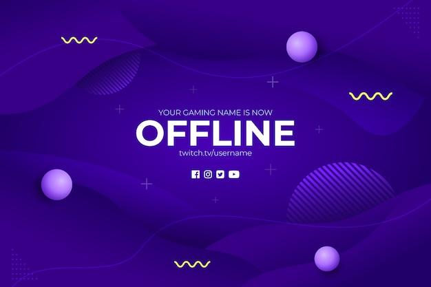 Fondo offline dell'estratto del flusso di gioco Vettore Premium