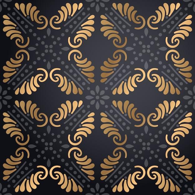 Fondo ornamentale di lusso del modello della mandala Vettore gratuito