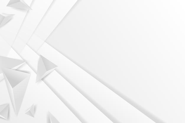 Fondo poligonale di forme bianche nello stile della carta 3d Vettore gratuito