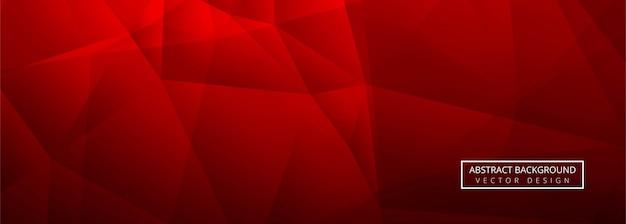 Fondo rosso astratto del modello dell'insegna del poligono brillante Vettore Premium