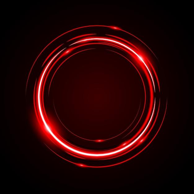 Fondo rosso-chiaro di vettore della struttura del cerchio astratto Vettore Premium