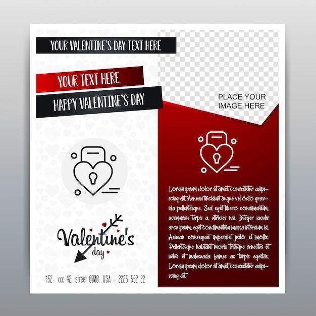Fondo rosso dell'insegna verticale felice dell'icona rossa di san valentino. illustrazione vettoriale Vettore gratuito