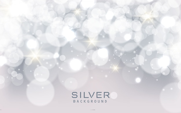 Fondo scintillante astratto d'argento delle luci Vettore Premium