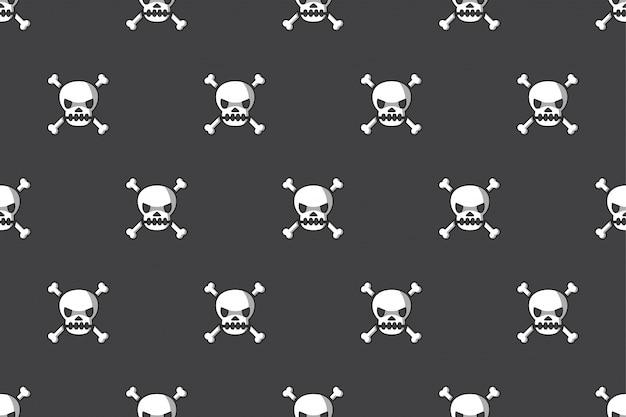 Fondo senza cuciture del cranio e dell'osso Vettore Premium
