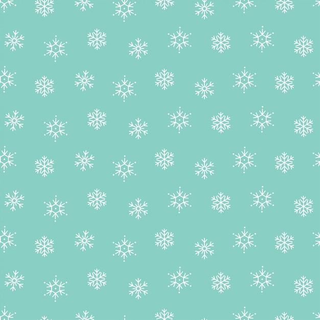 Fondo senza cuciture del modello di natale di inverno dei fiocchi di neve Vettore Premium