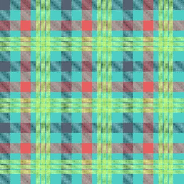 Fondo senza cuciture multicolore scozzese Vettore Premium