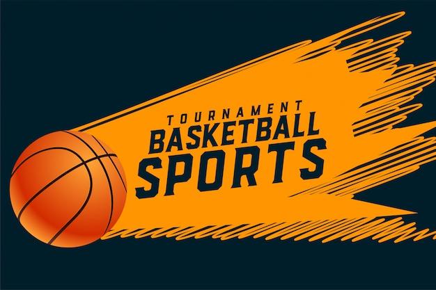 Fondo sportivo astratto di torneo di pallacanestro di stile Vettore gratuito