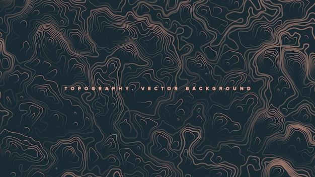 Fondo topografico colorato dell'estratto della mappa di contorno Vettore Premium