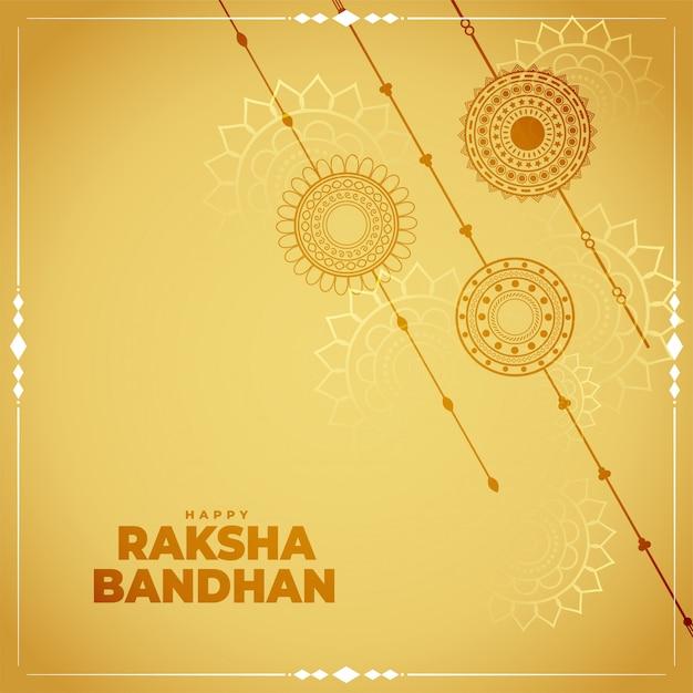 Fondo tradizionale della carta di festival di bandhan di raksha Vettore gratuito