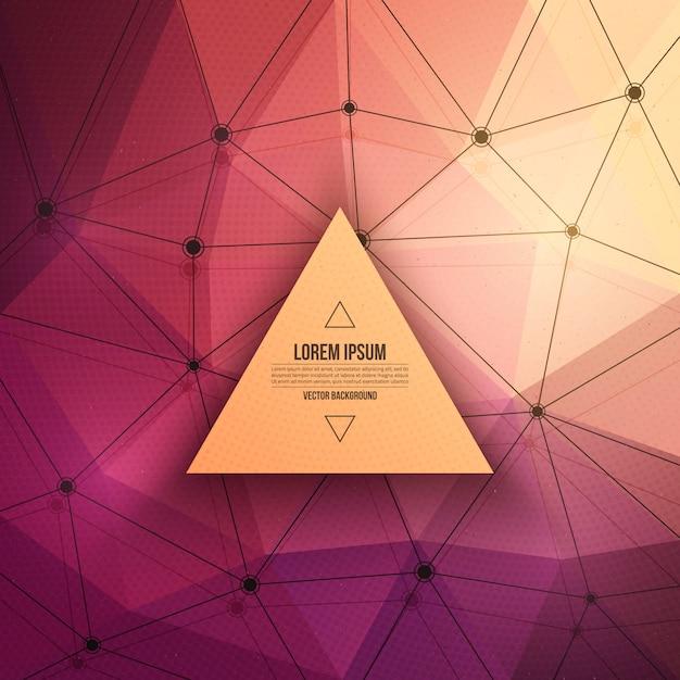 Fondo triangolare astratto di tecnologia di vettore 3d Vettore Premium