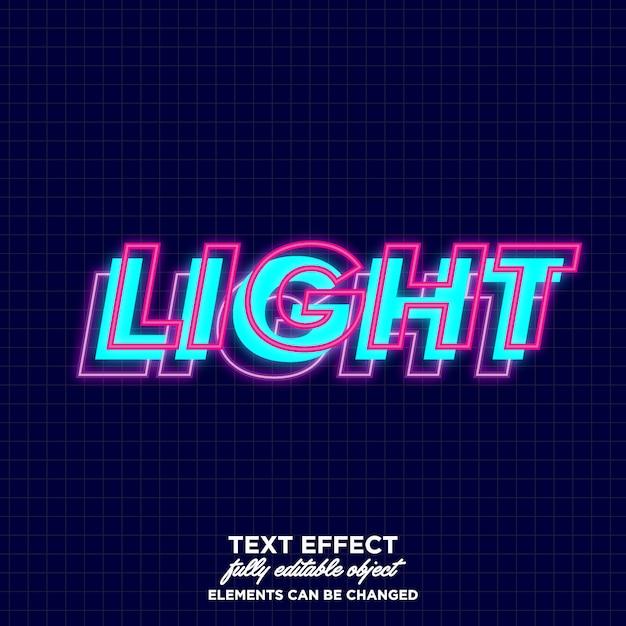 Font a strati con effetto luminoso Vettore Premium