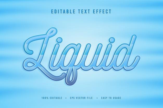 Font liquido decorativo Vettore Premium