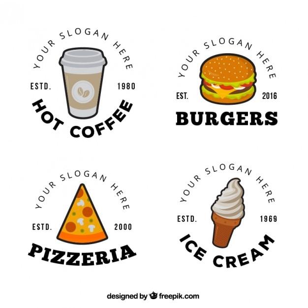 Food design logo  Scaricare vettori gratis