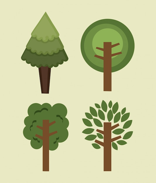 Foresta naturale Vettore gratuito