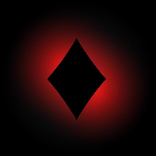 Forma di diamante in background incandescente scuro Vettore gratuito