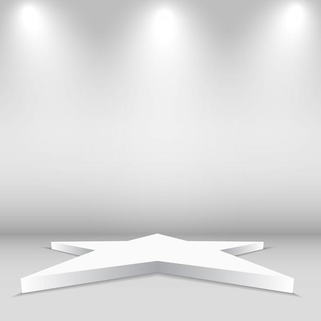 Forma stella vuota Vettore Premium