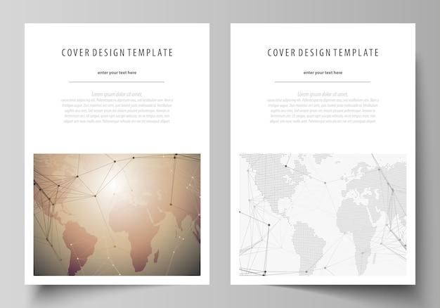 Formato copre i modelli per brochure Vettore Premium
