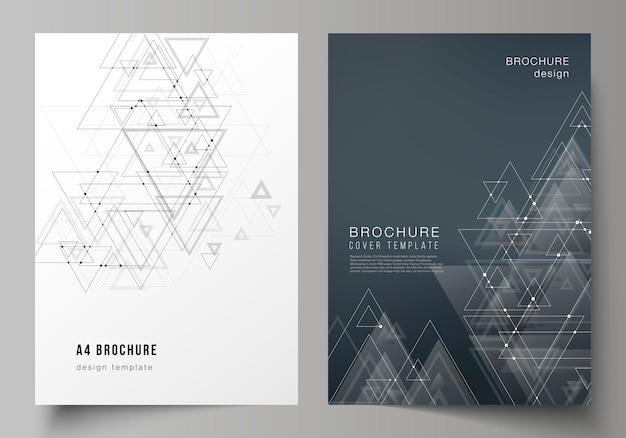 Formattare la brochure Vettore Premium