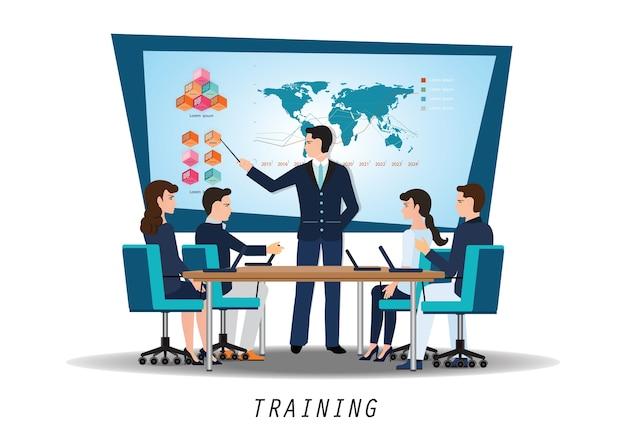 Formazione aziendale Vettore Premium