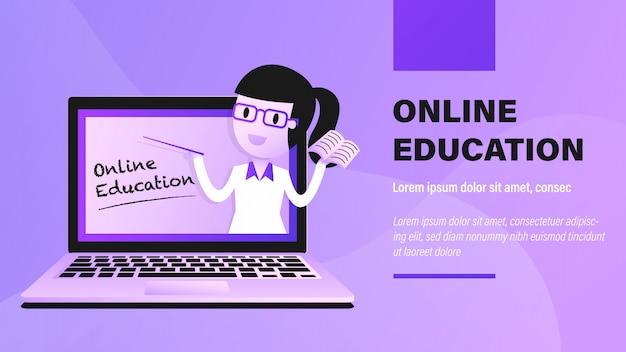 Formazione online. Vettore Premium