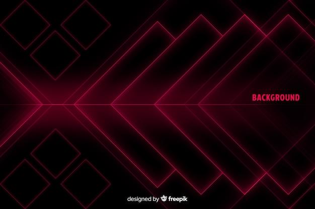 Forme di diamante in tonalità di rosso sullo sfondo Vettore gratuito