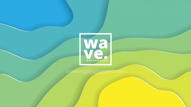 Forme di taglio di sfondo e carta astratto Vettore Premium