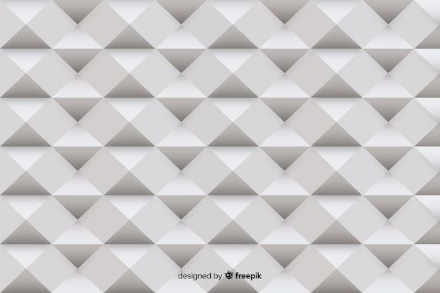 Forme geometriche grigie stile carta Vettore gratuito