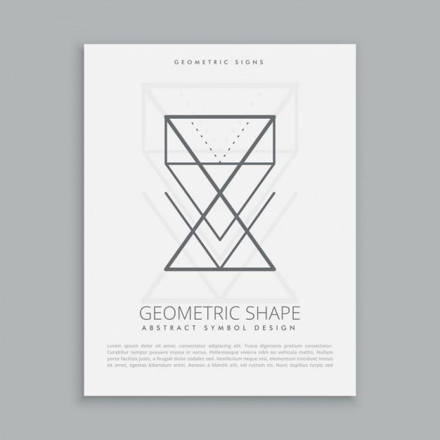 Forme geometriche lineart Vettore gratuito