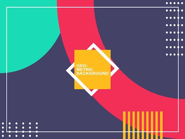 Forme geometriche sfondo semplice Vettore Premium