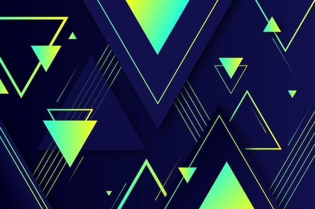 Forme geometriche sfumate su sfondo scuro Vettore gratuito