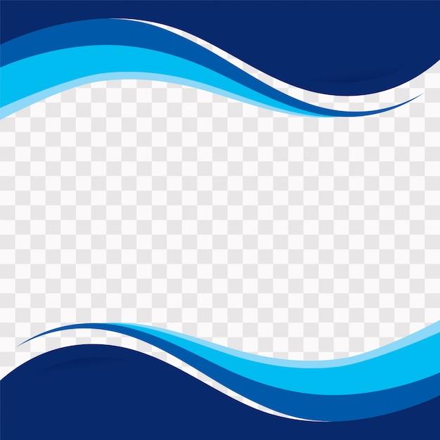 Forme ondulate blu su sfondo trasparente Vettore gratuito