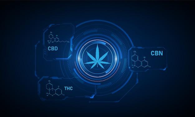 Formula chimica della struttura molecolare Vettore Premium