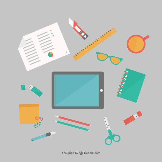 Forniture per ufficio appartamento insieme vettoriale for Forniture per ufficio