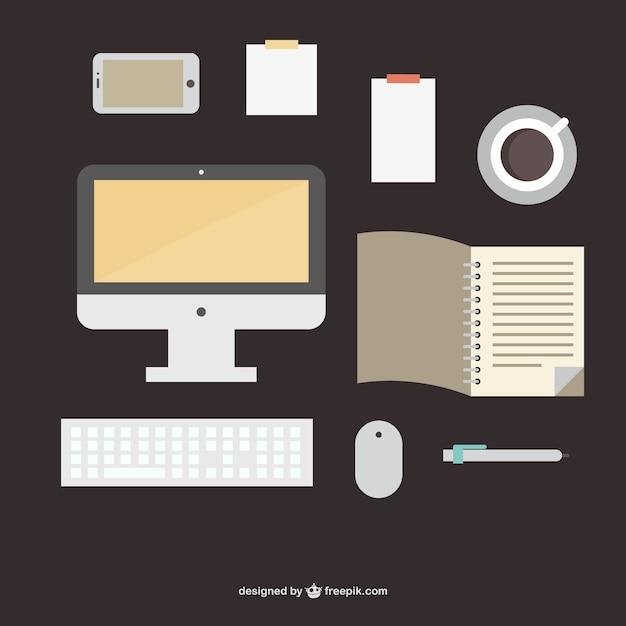 Forniture per ufficio illustrazione piatta scaricare for Forniture per ufficio